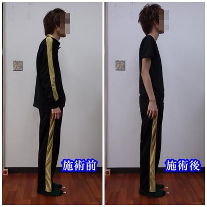 身長が驚く程伸びた男性